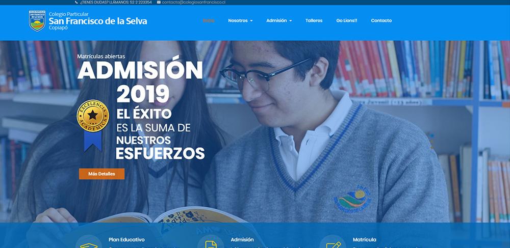 Colegio San Francisco de La Selva - Portafolio Evolucion Digital