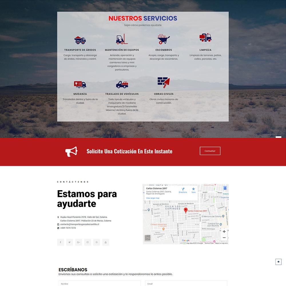 Transportes Gonzalez Castillo - Portafolio Evolucion Digital