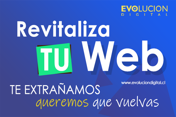 Revitaliza tu web - Oferta Evolucion Digital