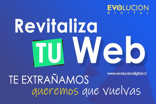 Revitaliza tu web - Oferta Evolucion Digital
