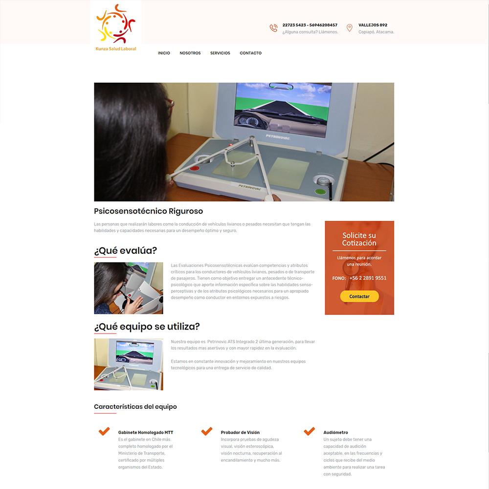 Kunza Salud Laboral - Portafolio Evolucion Digital