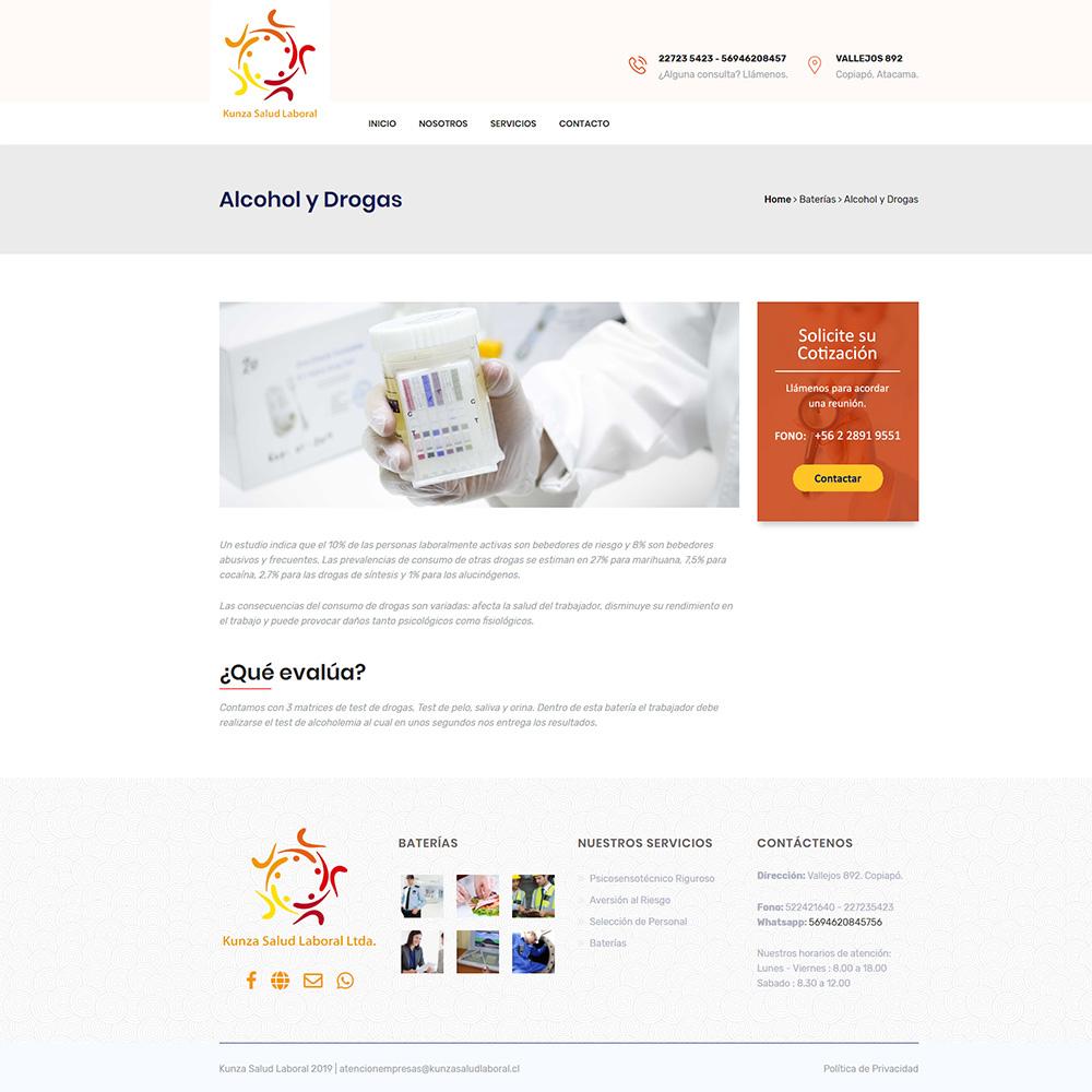 Kunza Salud Laboral - Evolucion Digital Portafolio